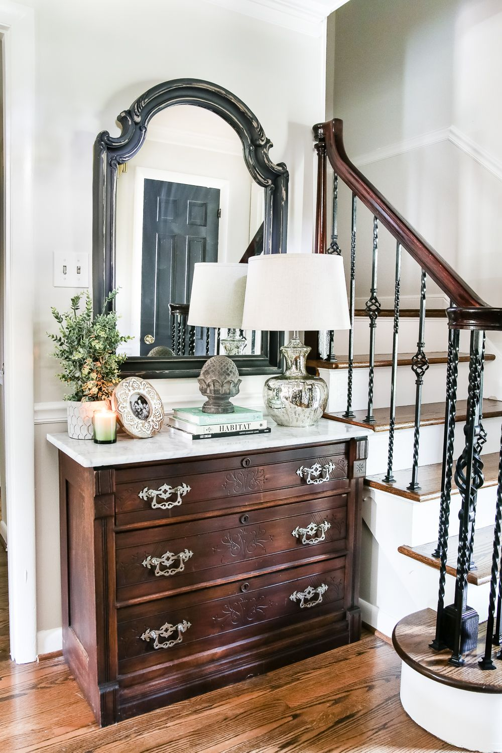 Victorian Foyer Names : How to remove stains from marble foyer chest makeover