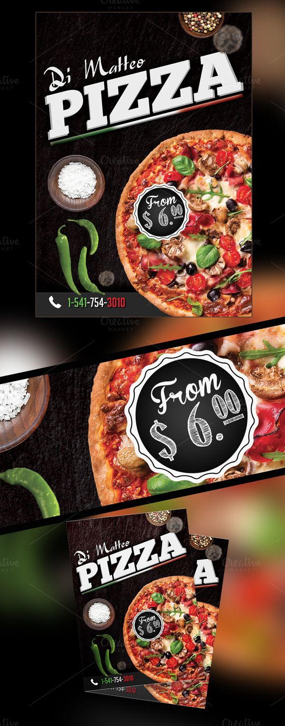Atractivo Plantilla De Flyer De Pizza Bosquejo - Ejemplo De ...