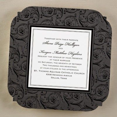 Occasions to Blog: 2015 Wedding Invitation Trends - Formal Black & White Wedding Invitations (Invitation Link - http://occasionsinprint.carlsoncraft.com/Wedding/Wedding-Invitations/3150-FV13145-Midnight-Enchantment--Invitation.pro)