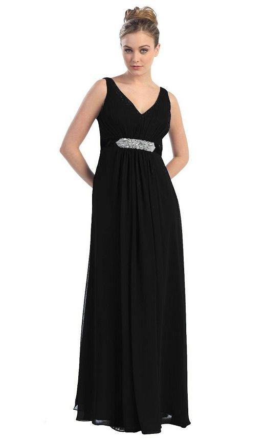 exciting long black formal gowns cheap plus size prom dresses ...