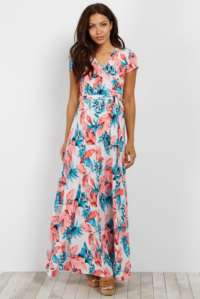 2904786888 This fun leaf printed maternity dress is the perfect piece for summer.  Featuring a flattering sash tie waist and a neckline that makes nursing  easy, ...