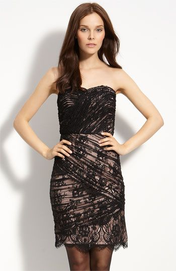 Tracy Reese Lace Overlay Strapless Dress available at #Nordstrom