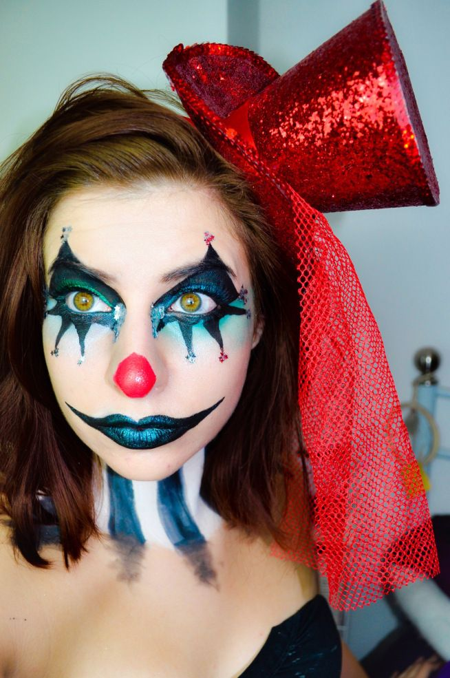glam clown halloween makeup clownin maquillage. Black Bedroom Furniture Sets. Home Design Ideas