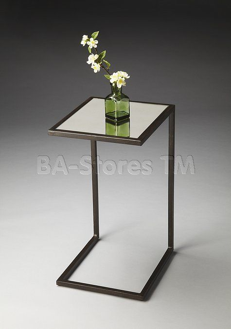 Metalworks  C-shaped Accent Table