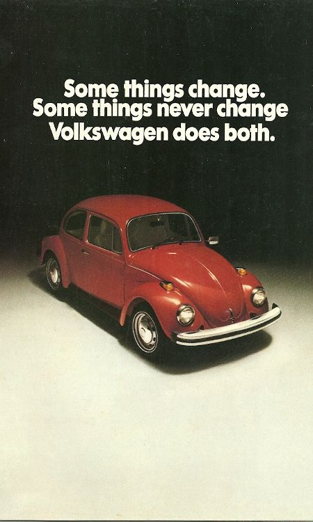 1975 Beetle brochure