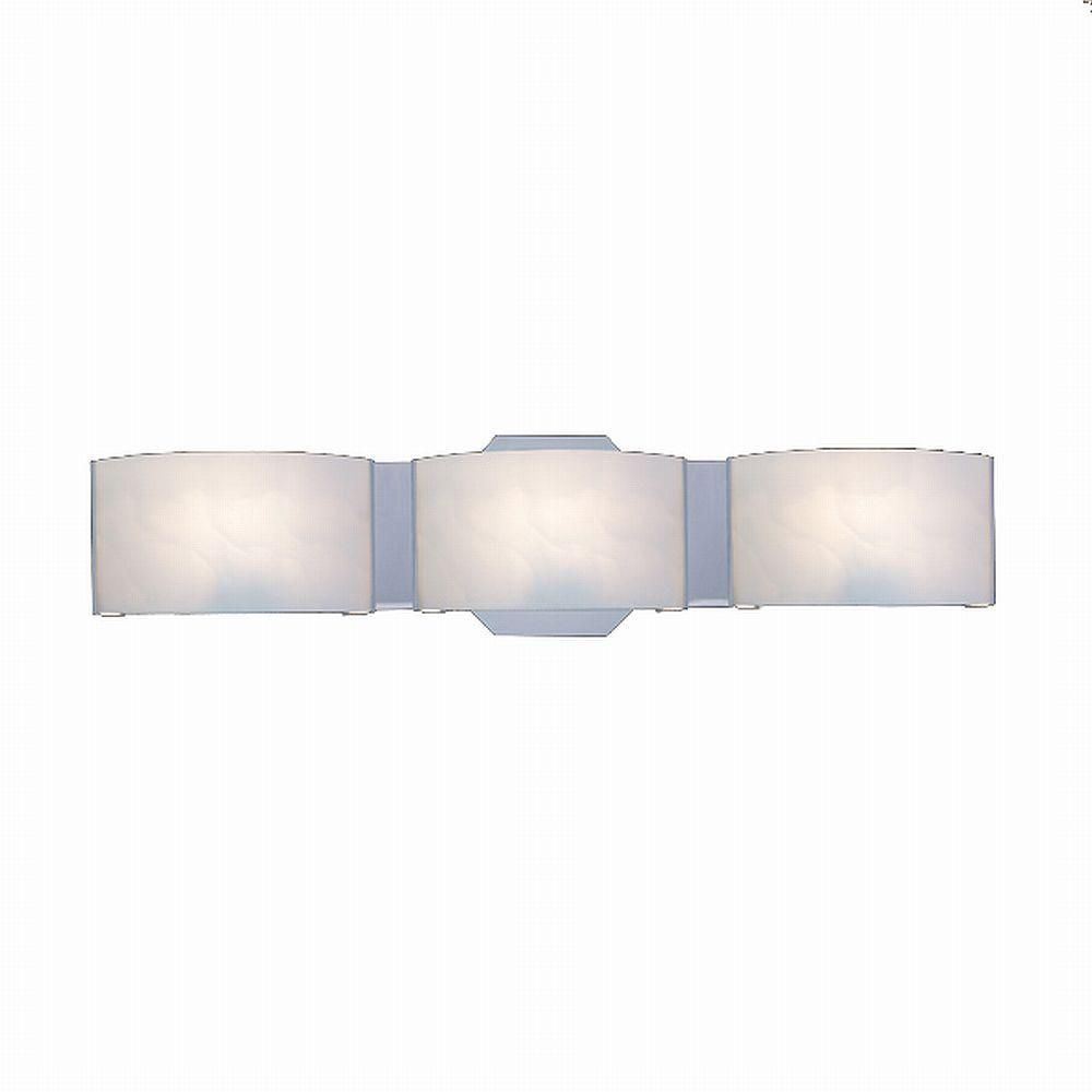 Hampton Bay Dakota 3 Light Satin Nickel Vanity With