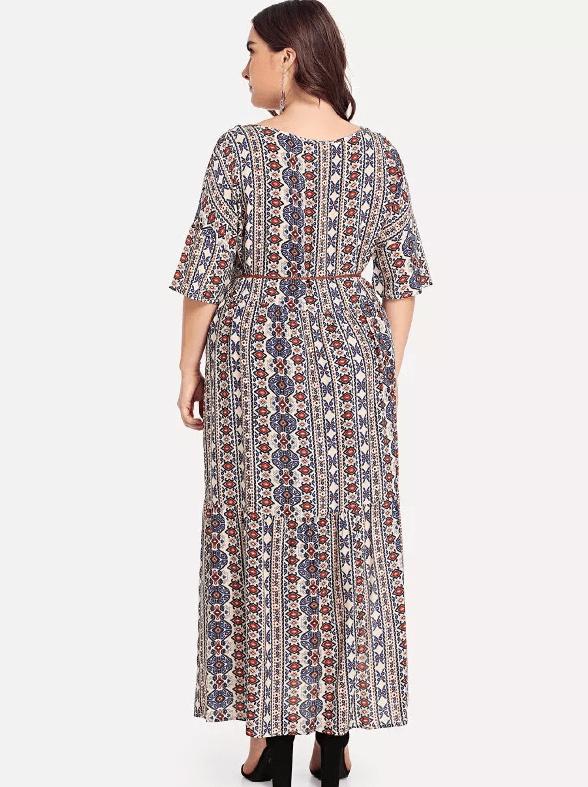 a359860807b PLUS SIZE Vanessa Maxi Dress - Boho Buys