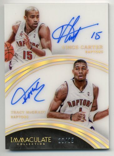 Vince Carter Tracy Mcgrady 2015-16 Immaculate Dual Auto #23/25