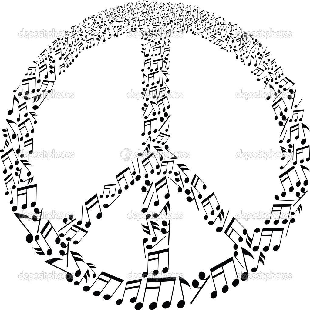 Free printable coloring pages peace sign - Peace Sign With Musical Notes Pattern Royalty Free Photos Pictures Images And Stock Photography