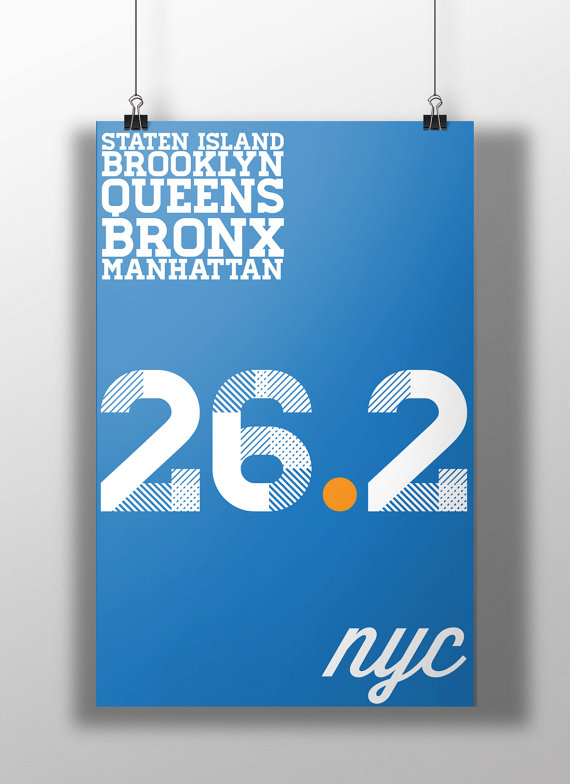 c30c54e9c029 NYC Marathon Print | triple triple crown | New york marathon, City ...