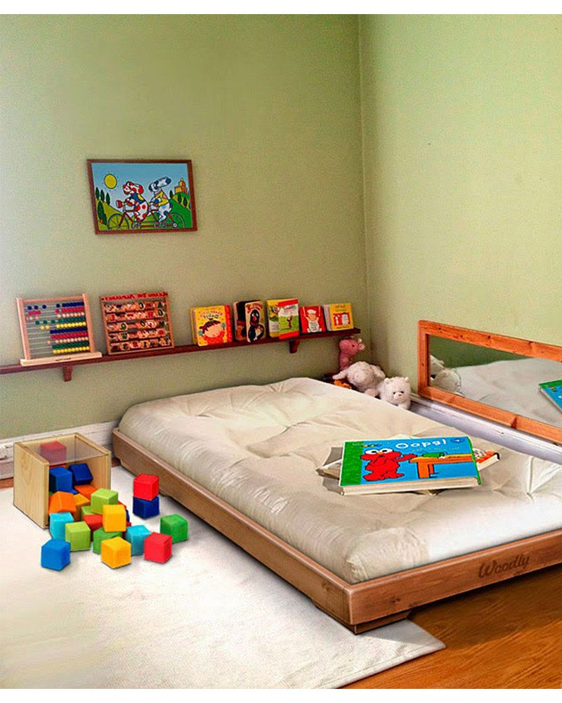 Woodly Pure Montessori Bed SMALL Natural Made in Italy