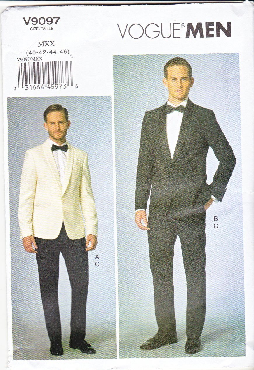Vogue Sewing Pattern 9097 Men\'s Chest Size 34-40\