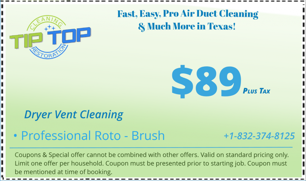 Coupon Dryer Vent Cleaning Texas Clean air ducts, Air