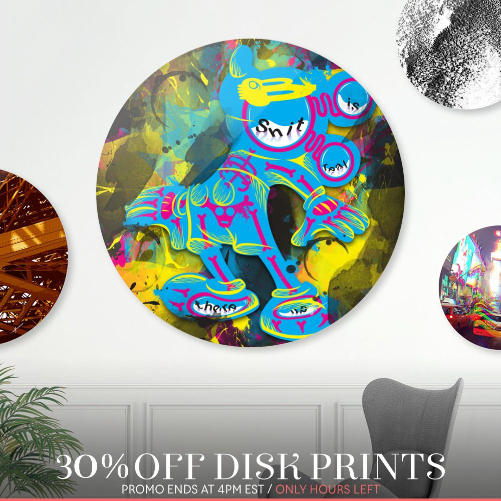 Get something dope for your Pops this Fathers Day. Only a few hours left to get 30% OFF my unique Disk Prints!   > https://www.curioos.com/neod/promo