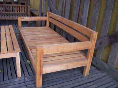 Fotos de Juego de living jardin para exterior en madera dura ...
