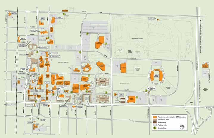 Campus Map Utep.Bgsu Campus Map Pdf