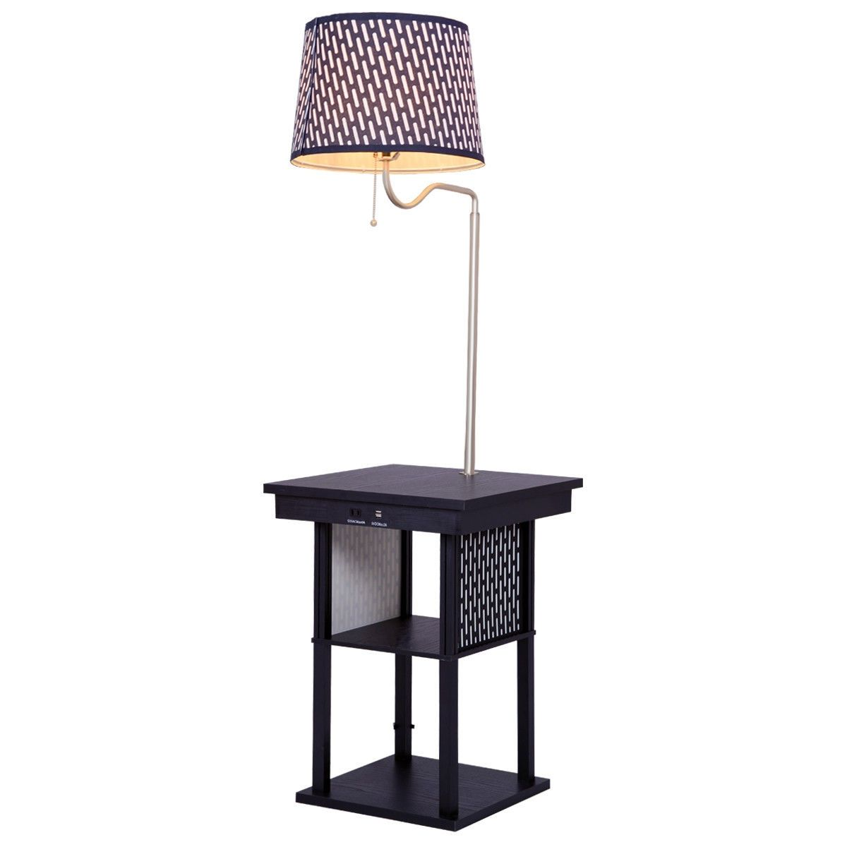 Living Room Floor Lamp with Shade 2 USB Ports in 2019