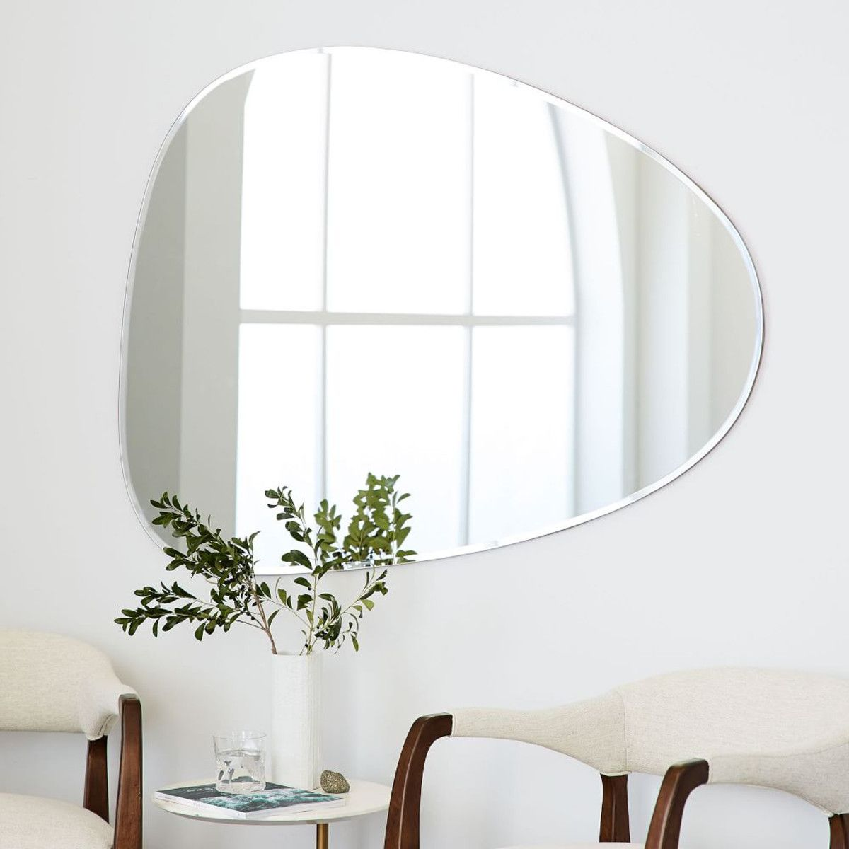 Frameless Mirror Canada We Gave This Mirror A Delicate Beveled Edge In Lieu Of A Frame