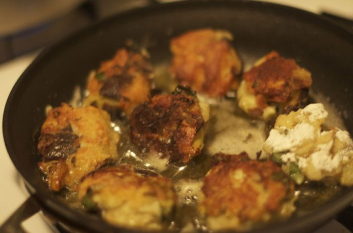 """Eggplant balls from """"Vegetables from an Italian Garden.""""  Perfect cold dish for summer parties."""