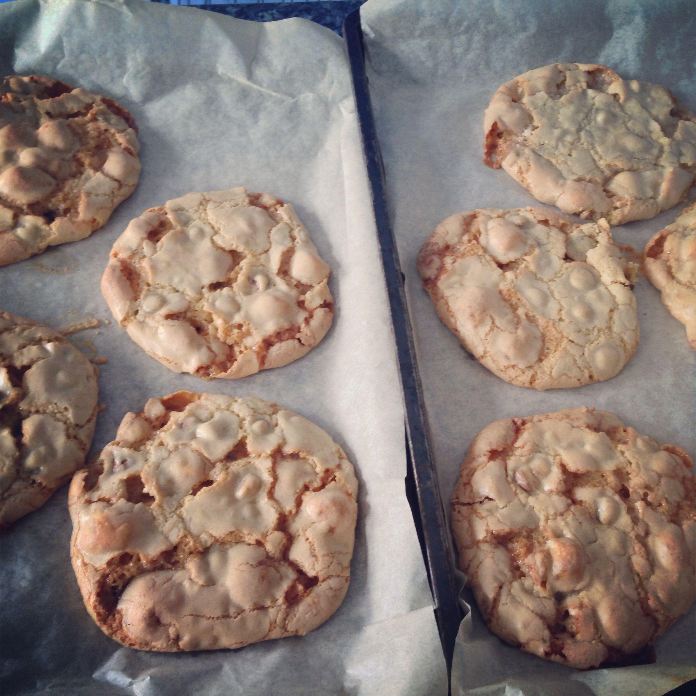 Chocolate chip marshmallow gooey cookies. Too good!