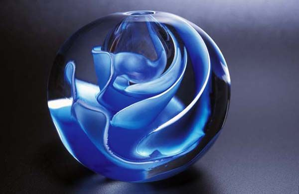 bruce marks glass | Blown, cut, polished glass sculpture