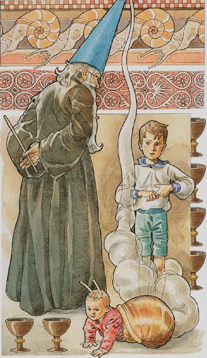 Six of Cups P2 The small child symbolises the past and the