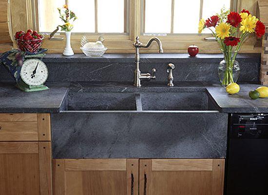 Green Mountain Soapstone Natural Countertop Sink Stone Farmhouse