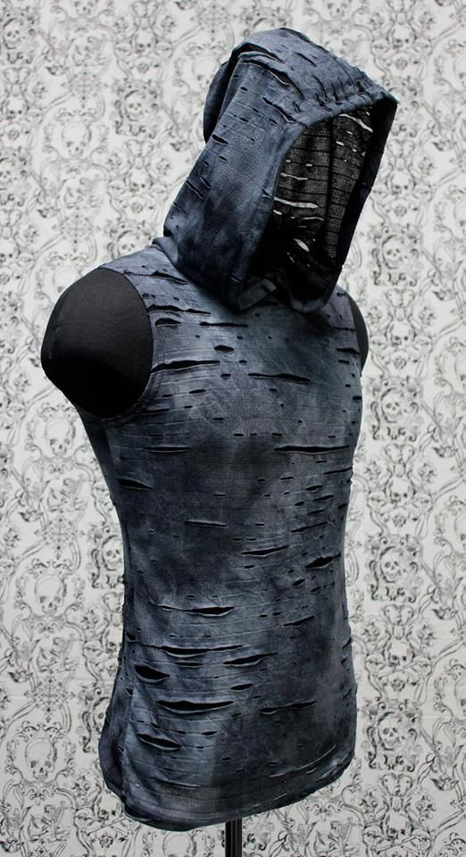 men 39 s decayed hoodie tee sector inspiration und style. Black Bedroom Furniture Sets. Home Design Ideas