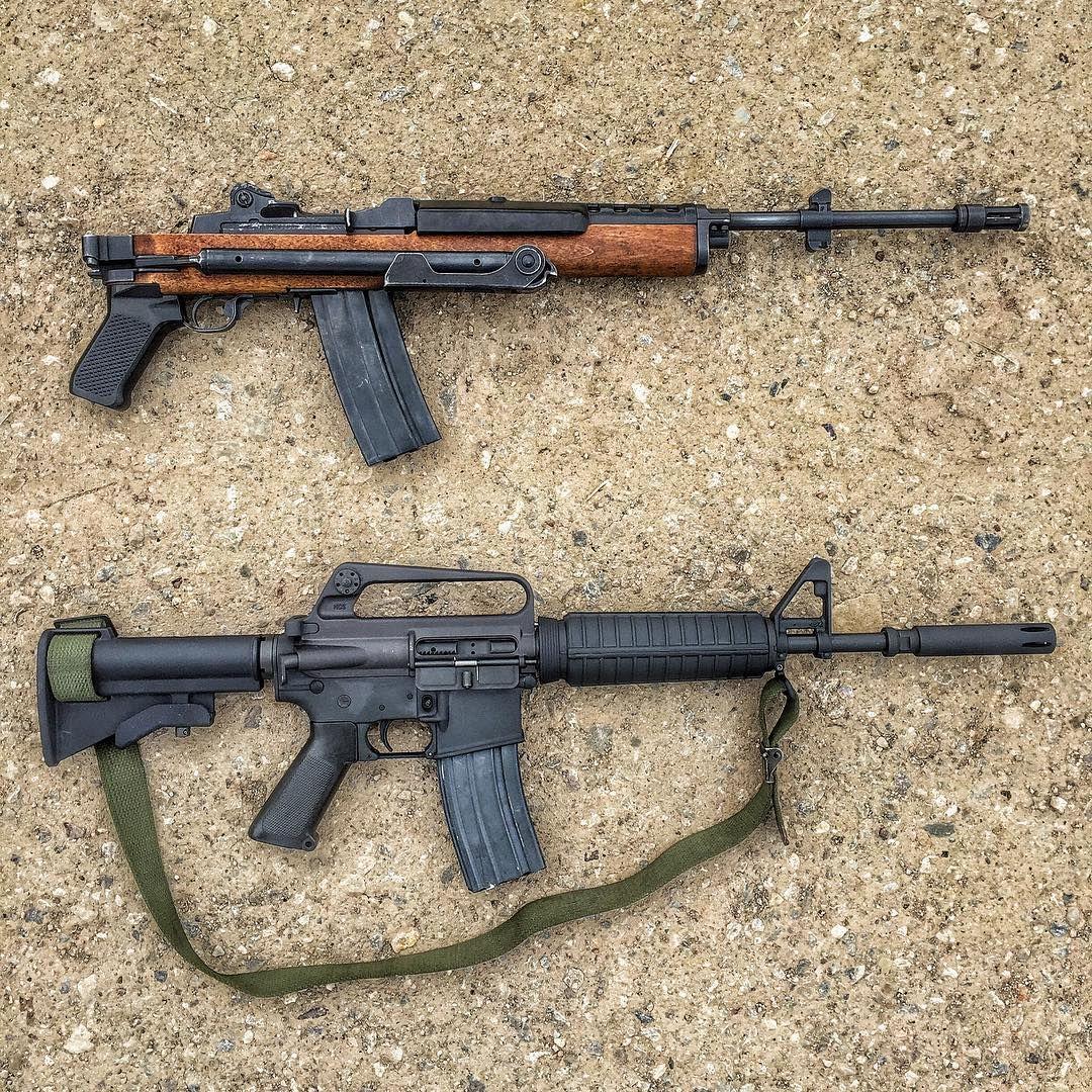 Mini-14/AC556 vs XM-177E2 (early M4 layout) | gun | Pinterest | Mini ...