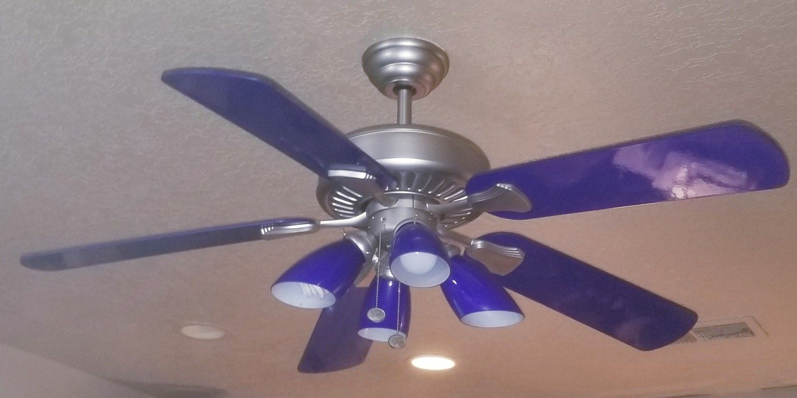 Cobalt blue ceiling fan for the home pinterest blue ceilings cobalt blue ceiling fan aloadofball Images