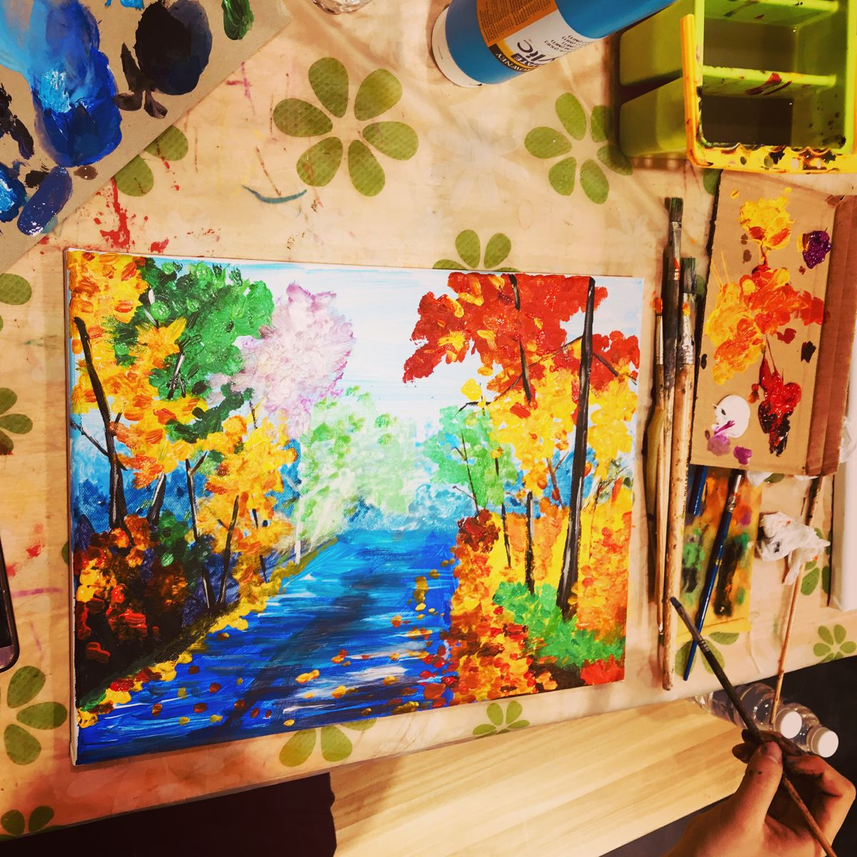 Acrylic Painting Scenery Painting Acrylic Painting Canvas Beginner Painting