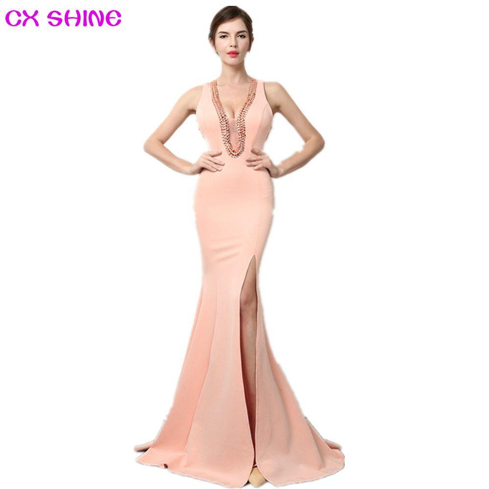 Dress robes ·    Click to Buy    CX SHINE V NECK beading sexy mermaid  trumpet long.    b98091f19209
