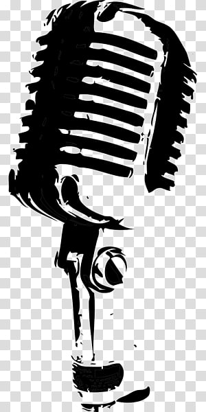 Microphone Black And White Music Microphone Transparent Background Png Clipart Microphone Drawing Speaker Drawing Radio Drawing