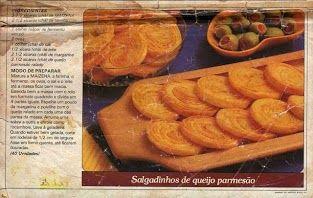 Salgadinhos de queijo parmesao
