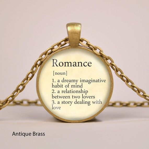 Romance dictionary definition pendant necklace by riverwalkdesigns items similar to romance dictionary definition pendant necklace or keyring glass art print jewelry charm gifts for her or him on etsy mozeypictures Gallery