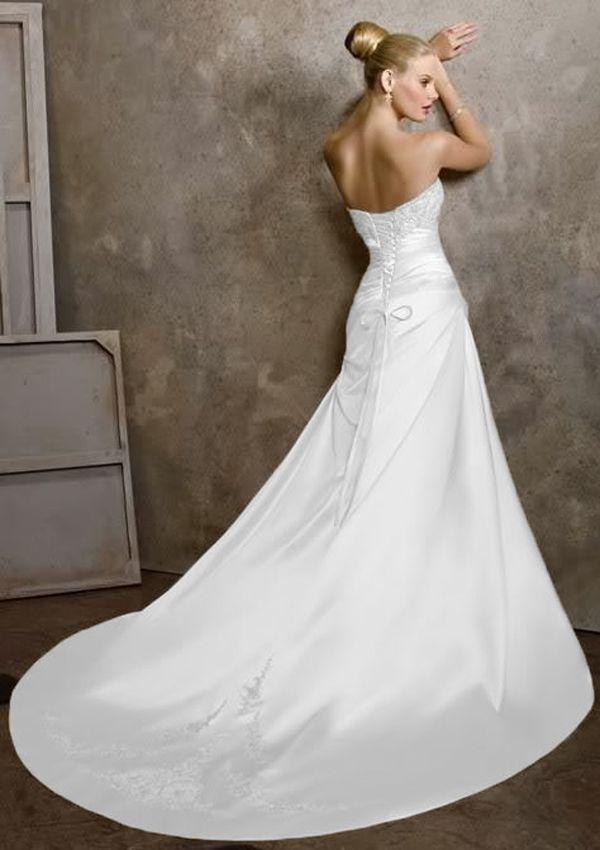 100%Lager Weißes Hochzeitskleid Braut Brautkleid Größe:34-36-38-40 ...
