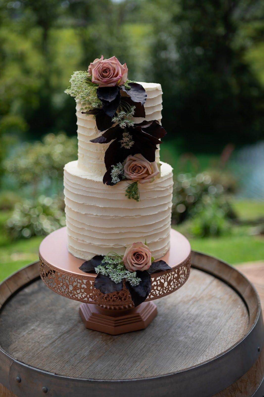 Rose Gold Filigree Cake Stand The Pretty Prop Shop
