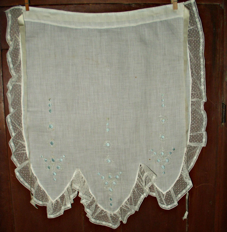 White apron lace trim - The Gatherings Antique Vintage Vintage 1920 S Art Deco Embroidery Lace Trim Tea Serving Apron Ribbon
