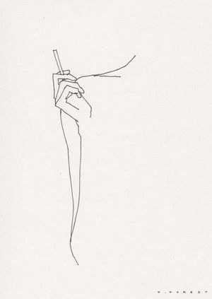 Fforest Drawing Womansmoking Dessin Abstrait Dessin Corps