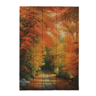 """HadleyHouseCo """"Autumn in New England"""" by Charles White Photographic Print Plaque Size:"""
