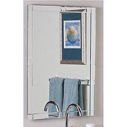 Kinana Frameless Beveled Mirror Mirror Wall Bedroom Frameless