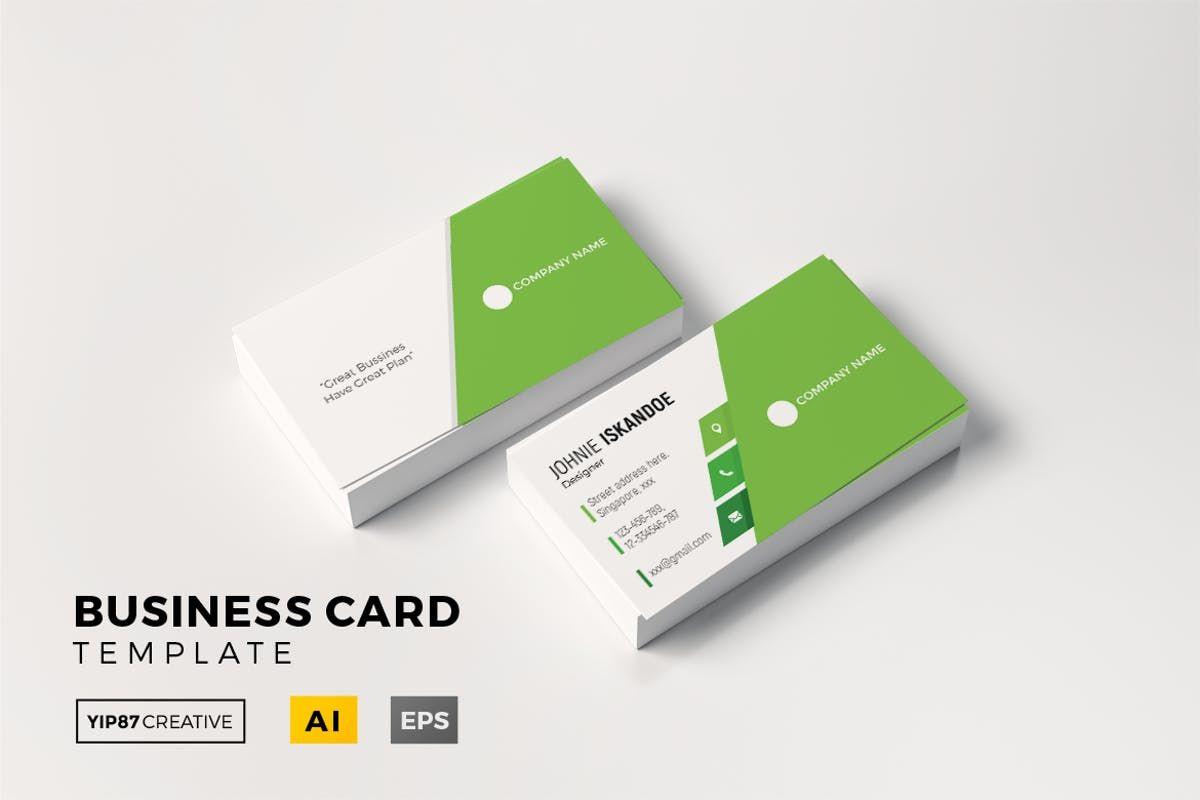 Company Card Business Card Template Ai Eps Files Size 3 58 X 2 17 Inches Bleed 0 12 Business Card Template Cool Business Cards Business Card Design