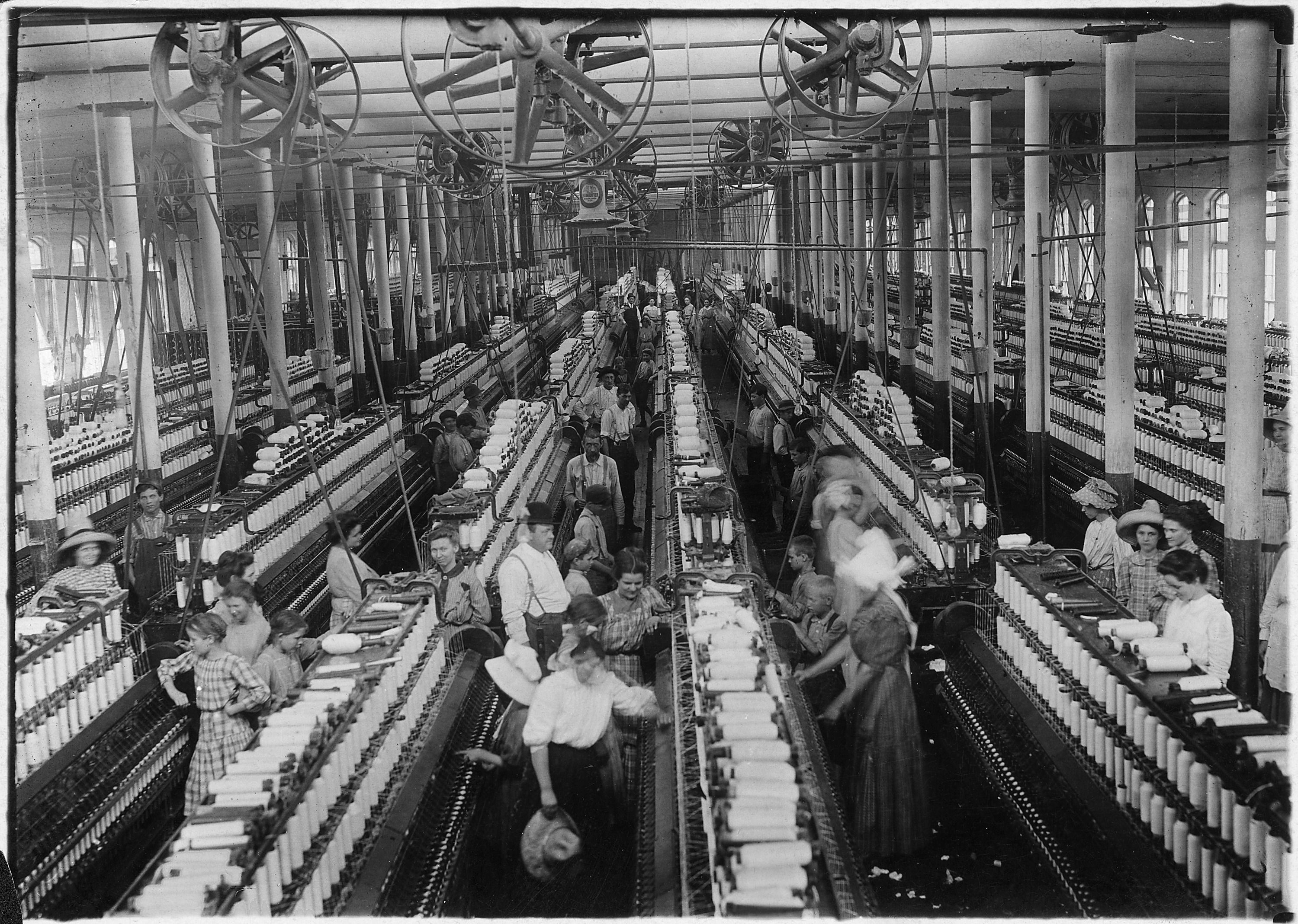 COTTON -- The fiber is most often spun into yarn or thread