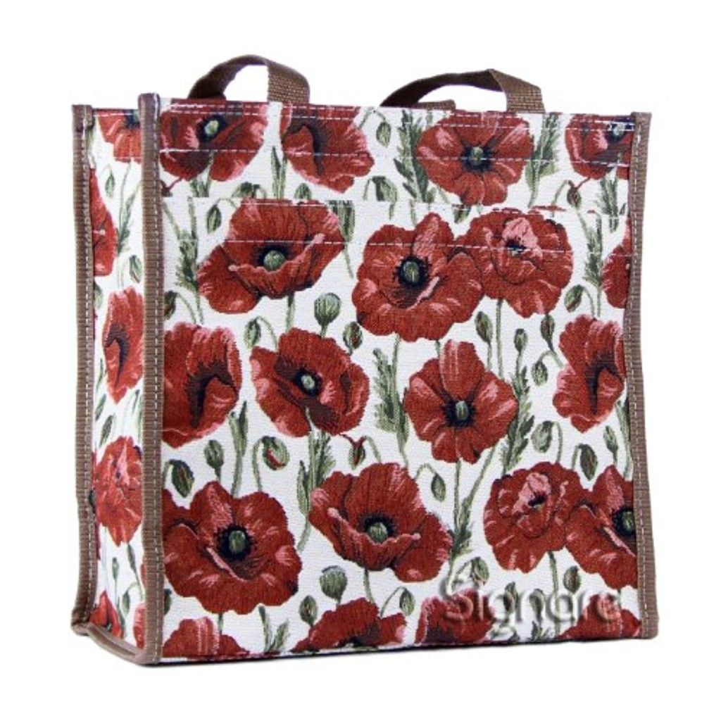 2cd8cf95c992 Signare Re-usable Tapestry Foldaway Shopping Bag in 6 Floral Designs  (Strawberry Thief Blue