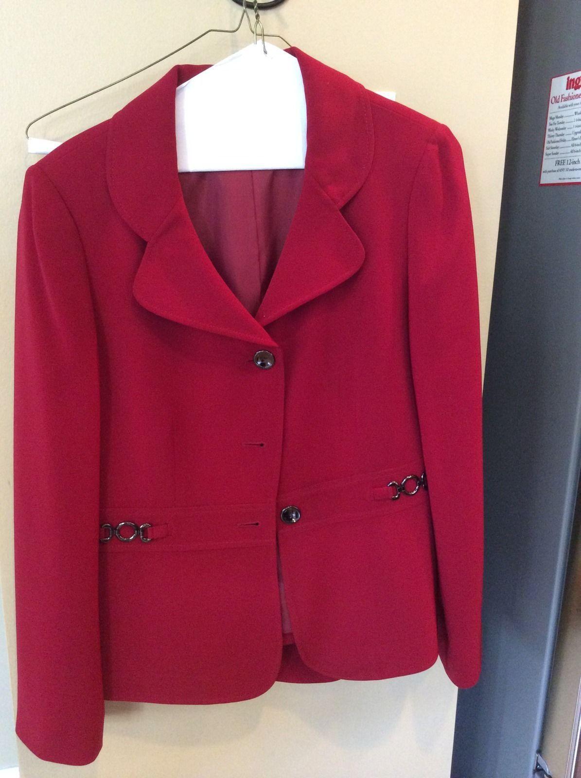 Tahari Red Ladies Business Pant Suit Sz 8   eBay