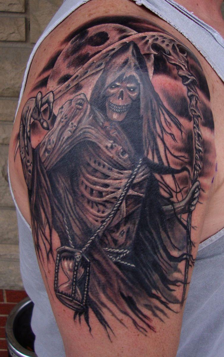 Time's Up TattooNOW Reaper tattoo, Grim reaper tattoo