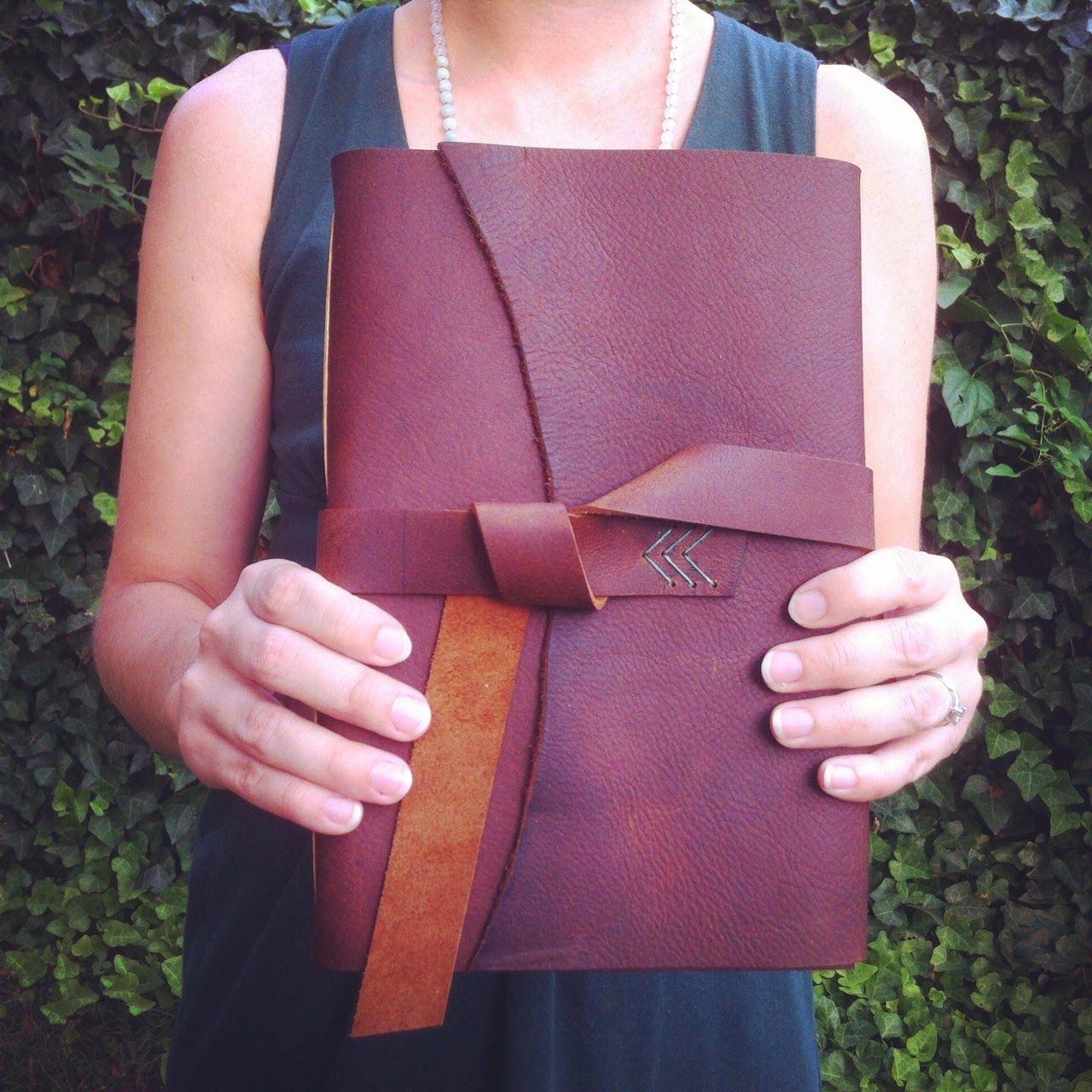 Handbound Leather Book Made By Katie Gonzalez Of Linenlaid