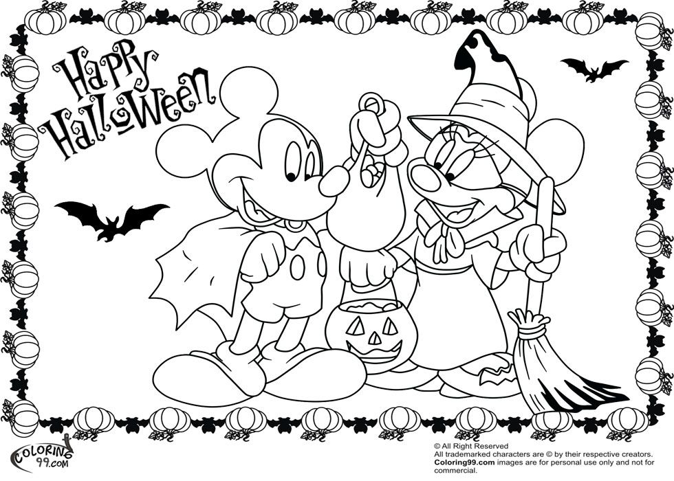 mickey mouse halloween coloring pages yahoo image search results