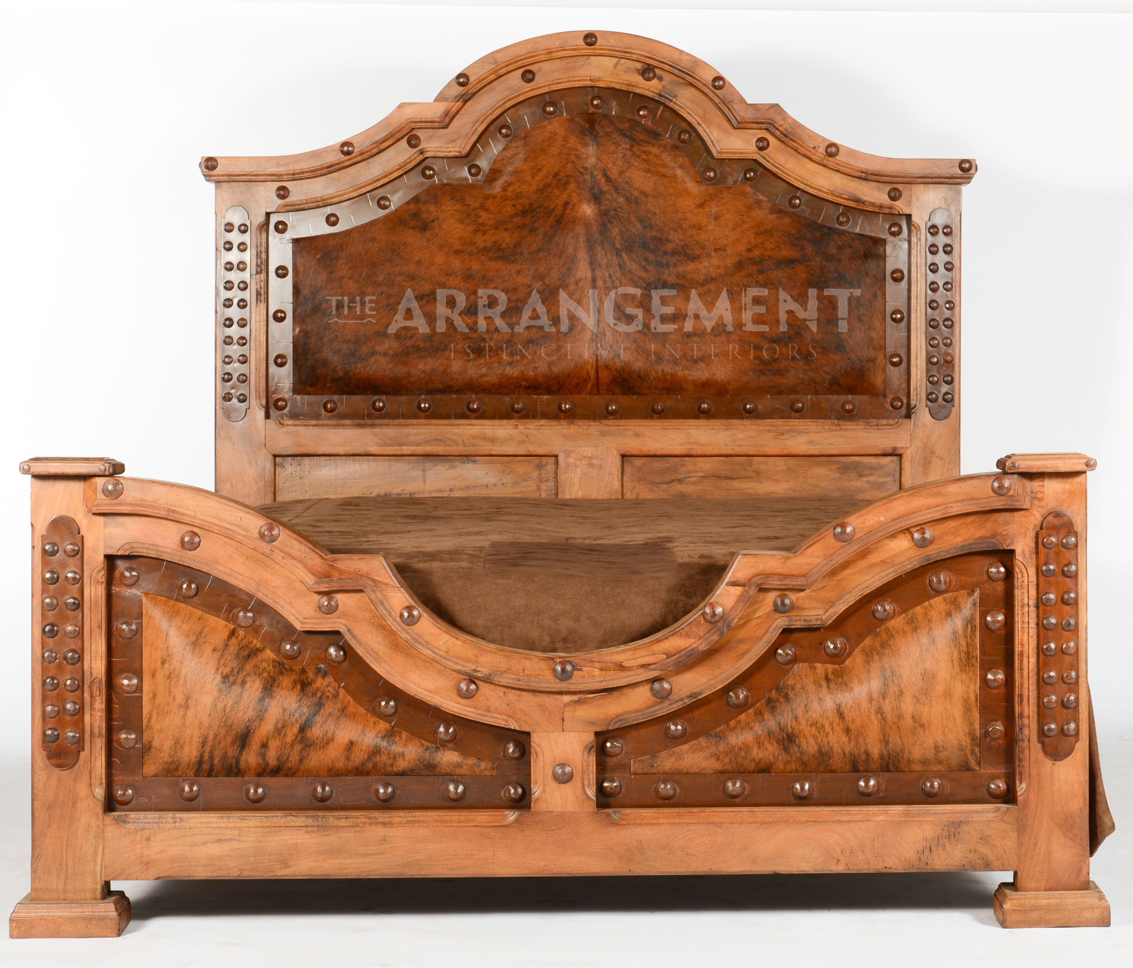 Wild Wild Western Bed With its leather details, cow hide accents ...