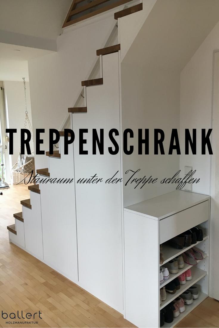 Raumpotential Unter Der Treppe Sinnvoll Nutzen Treppenschrank Schrank Unter Treppe Treppe